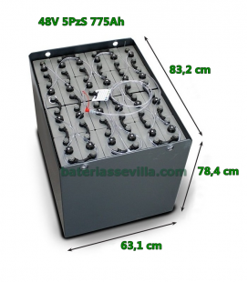 Batería 48V 5PzS 775Ah