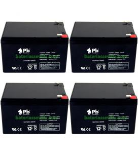 4 Baterías Gel 12v 12Ah