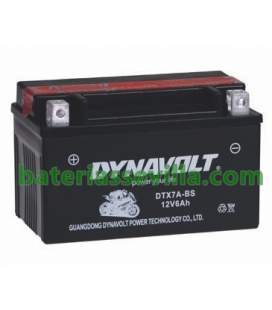 YTX7A-BS motos 12v 6ah baterias sevilla DTX7A-BS positivo izquierda