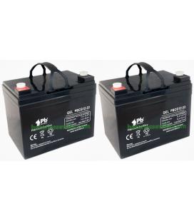 Dos Baterías Gel 33Ah 12V Premium battery
