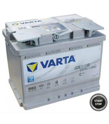 bateria coche start-stop AGM varta d52 60ah 12v 560 901 068 baterias sevilla arranque