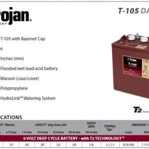 En Baterías Sevilla le ofrecemos: Trojan T105